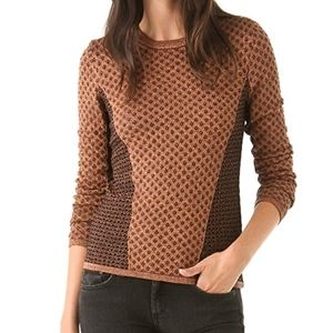 Rag and Bone Amanda Copper Metallic Sweater